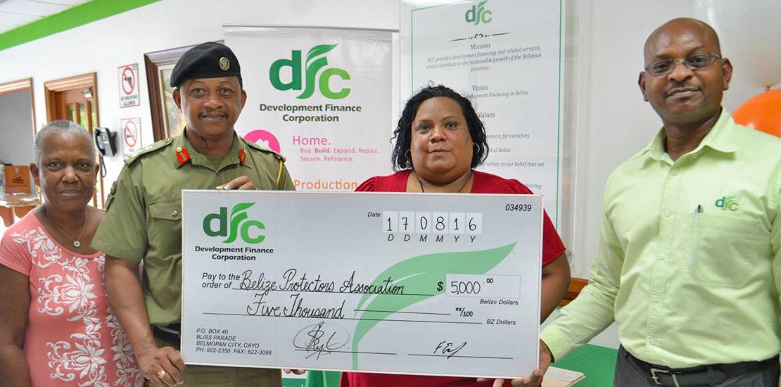 DFC donates $5000 to the Belize Protectors Association