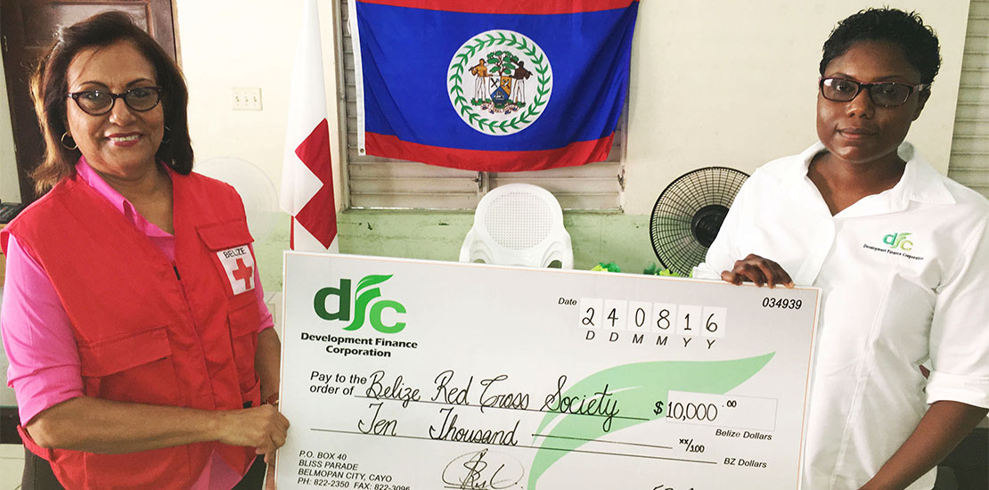 DFC $10,000 donation to the Red Cross