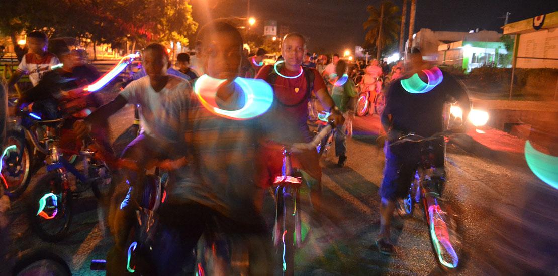 Annual Children's bicycle Parade, Belmopan.